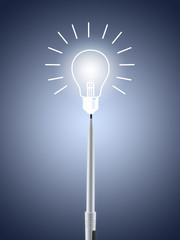 Glühbirne Birne Idee Frage Einfall Stift Kreativität