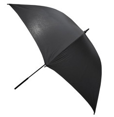 open black large umbrella isolated on white