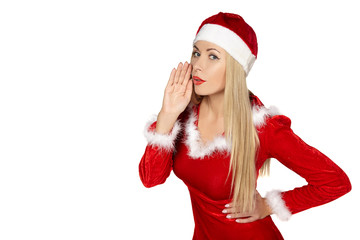 Sexy woman wearing santa clause costume