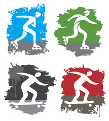 In-line skating and skateboard grunge icons