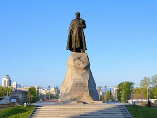 Monument of Yerofey Khabarov in Khabarovsk, Russia