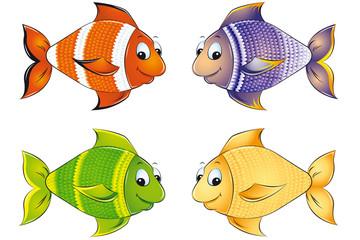 Zierfische Meeresfische Set