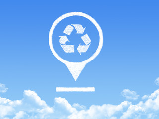 recycle location marker cloud shape