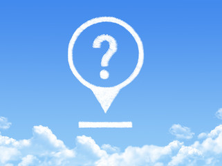 question mark location marker cloud shape