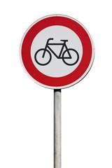 Verkehrsschild Durchfahrt für Radfahrer verboten