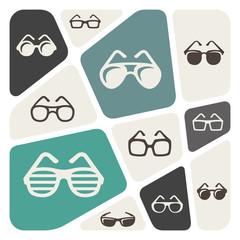Glasses icon background