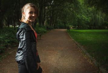 Sport teenage girl