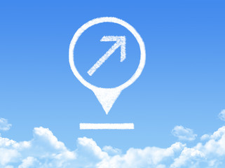 location marker cloud shape