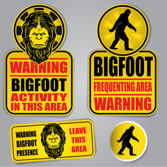 Bigfoot Warning Signs