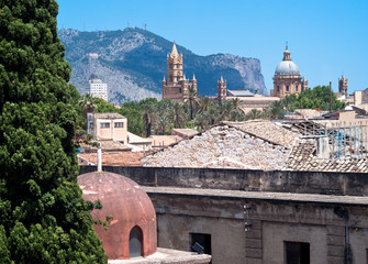 Cathedral and Hermits dome in Palermo