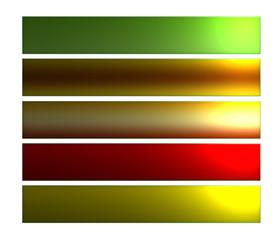 série de boutons web rectangulaires