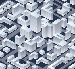 Isometric vector  city