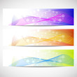 Web headers, set of vector banners