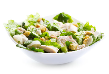 bowl of chicken salad