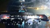 Alien mothership near Earth, for fantasy backgrounds