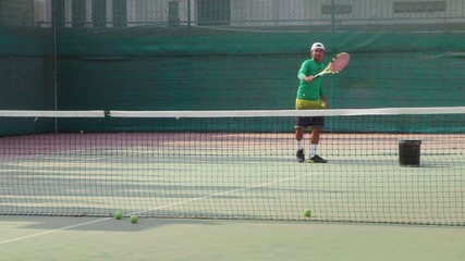 18of26 Man playing tennis, game, match, sport, teacher, woman