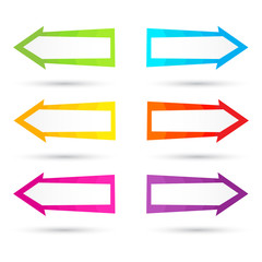 Colored vector arrows