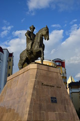 Monument to KENESARY KHAN in Astana / Kazakhstan