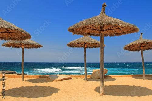 canvas print picture sonnenschirm am strand