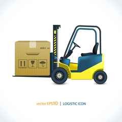 Logistic icon forklift