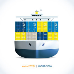 Logistic icon container ship