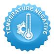 température négative sur bouton web denté bleu