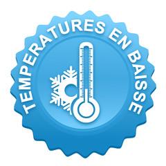 températures en baisse sur bouton web denté bleu