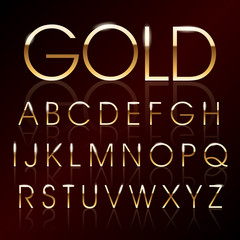 Vector golden alphabet