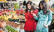 market fruits shopping friends