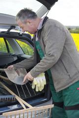 Farmer invites tools in his car