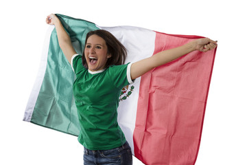 Female Mexican fan