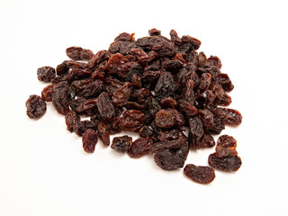 Heap of dark raisins
