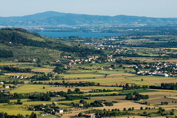 View of famous Val di Chiana in Tuscany