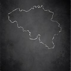 Belgium map blackboard chalkboard vector