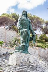 Abderrahman I statue in the town of Almuñecar in Granada - Spain