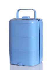 light blue food box on white background