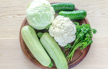 Green hypoallergenic vegetables