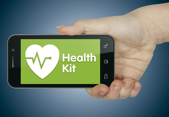 HealthKit (green). Mobile phone