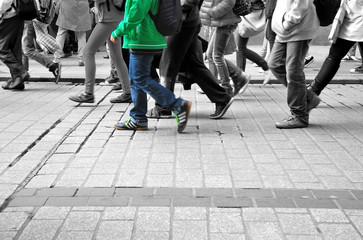 Walking in the crowd..Walking in the crowd