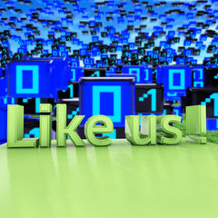 Like us - 3d Render