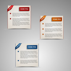 Modern steps colored labels template