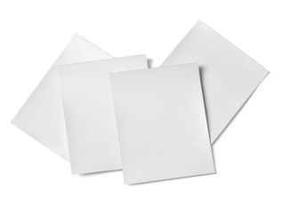 Paper Cards Isolated