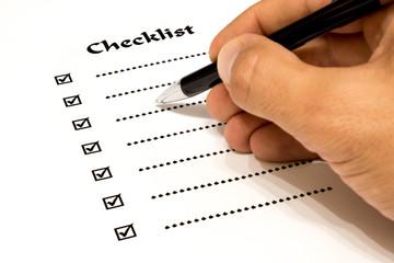 Checkliste beim Ausfüllen