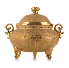 Golden Antique Porcelain Pot