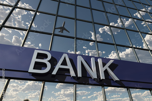 bank sign on a building - 65821072