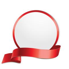 Label, rund - Rot