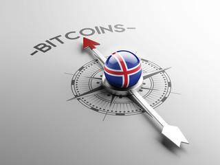 Iceland  Bitcoin Concept
