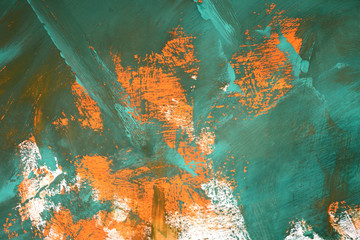 abstract background with orange green white smears