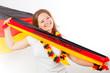 Fussball fan mit deutschland fahne