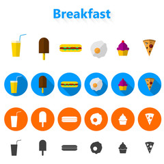 Icons for fast food